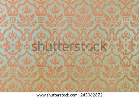 Patterned Wallpaper - stock photo