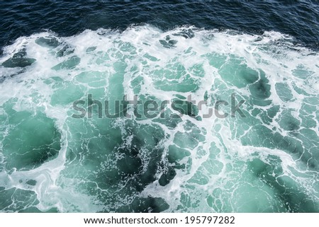 Patterns in Turquoise Sea Water - stock photo