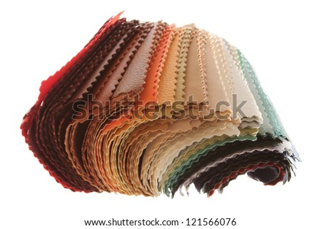 patterns of different colors upholstery fabrics - stock photo