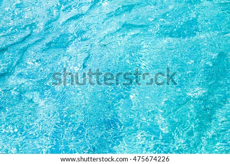 Patterns of movement of water in the pool.