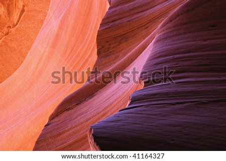 Patterns of Navajo Sandstone from Slot Canyons Page Arizona - stock photo