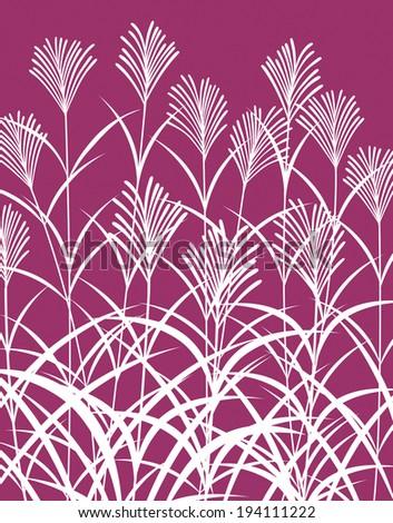 Patterns of pampas grass pattern - stock photo
