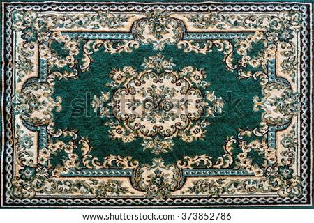 Patterns of Persian carpets. - stock photo