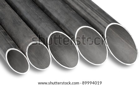 patterns of steel pipes of different diameter for pipeline construction