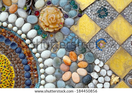 Patterns on the wall. - stock photo