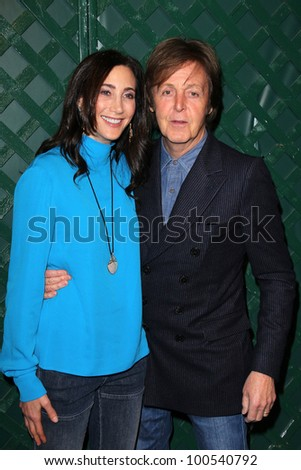 Paul McCartney Nancy Shevell At The My Valentine Video Premiere Hosted By