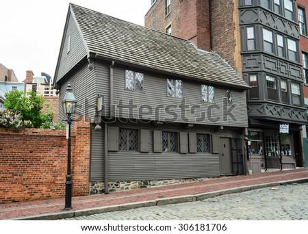 Paul Revere House - stock photo