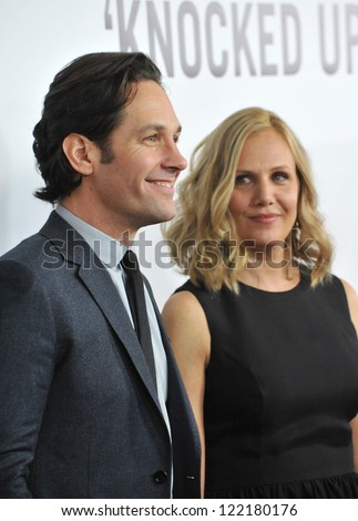 "Paul Rudd & wife Julie Yaeger at the world premiere of his movie ""This Is 40"" at Grauman's Chinese Theatre, Hollywood. December 12, 2012  Los Angeles, CA Picture: Paul Smith"
