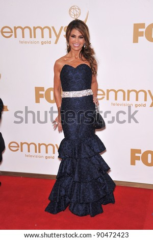 Paula Abdul arriving at the 2011 Primetime Emmy Awards at the Nokia Theatre, L.A. Live in downtown Los Angeles. September 18, 2011  Los Angeles, CA Picture: Paul Smith / Featureflash