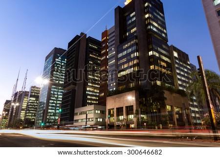 Paulista Avenue - Sao Paulo - Brazil - South America - stock photo