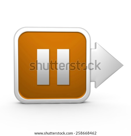 pause square icon on white background