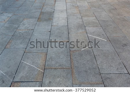 pave in stone grey in outside - stock photo