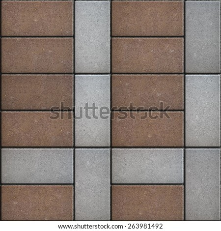 Pavement Consisting of a Rectangular Cross. Seamless Tileable Texture.