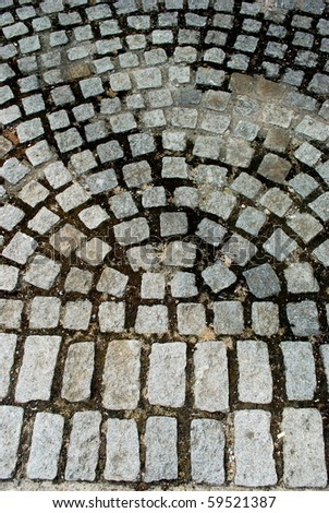 Pavement made of stones as abstract background