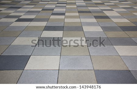 pavement outdoors in shades of grey - stock photo