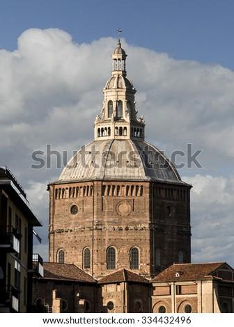 Pavia Dome by day, Pavia, italy - stock photo