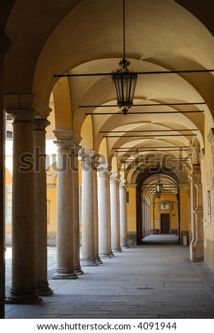 Pavia (Lombardy, Italy) - An internal courtyard of the ancient University