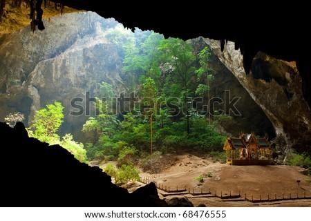 Pavillon in Phraya Nakorn cave,Thailand - stock photo
