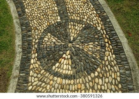 Paving stone walkway - stock photo