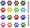 PAW PRINTS - stock photo