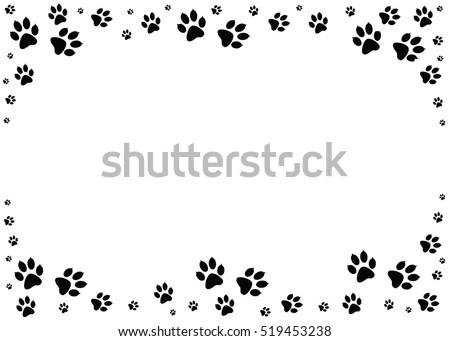 black paw print wallpaper border - photo #30