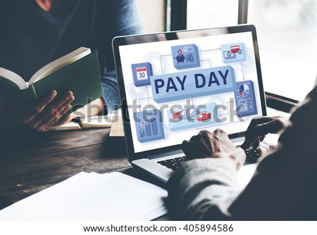 Pay Day Salary Income Paycheck Wages Payments Concept - stock photo