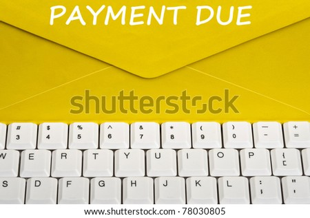 Payment due message on envelope - stock photo
