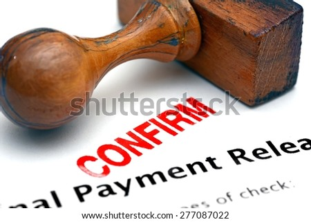 Payment form - confirm - stock photo