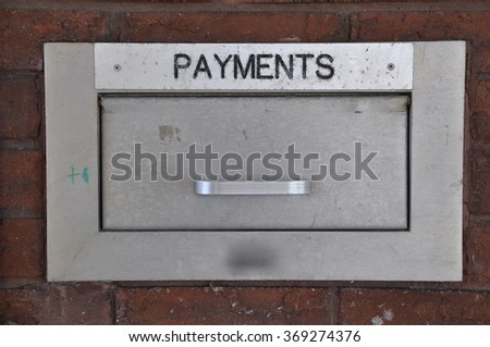 Payment steel box - stock photo