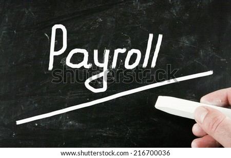 payroll concept - stock photo