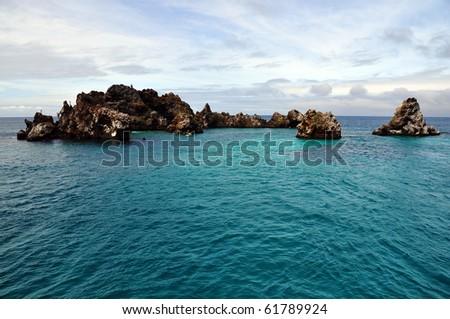 pazific atoll, Galapagos - stock photo