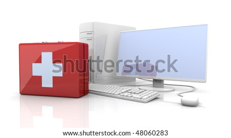 PC First aid - stock photo