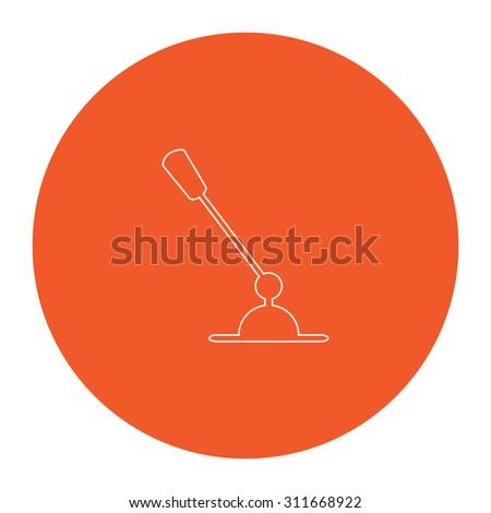 Pc Microphone Flat White Symbol Orange Stock Illustration 311668922