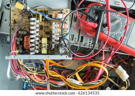PC Power Supply Repair Stock Photo (100% Legal Protection) 626134535 ...