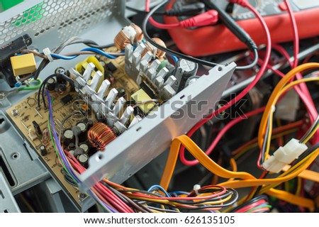 PC Power Supply Repair Stock Photo & Image (Royalty-Free) 626135105 ...