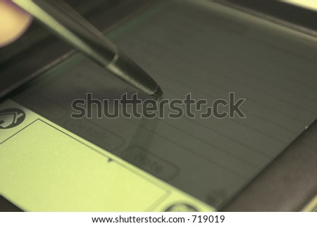 PDA and stylus - stock photo