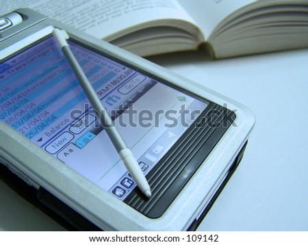 PDA: close up - stock photo