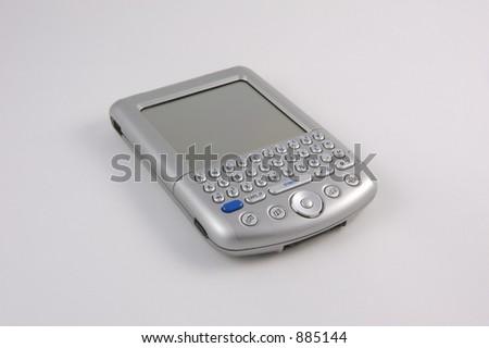 PDA isolated on white background - stock photo