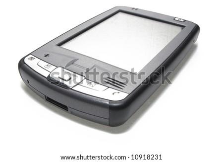 PDA on white - stock photo