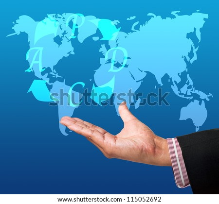 PDCA (Plan Do Check Act) button a touch screen interface on hand - stock photo
