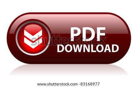Pdf button - stock photo