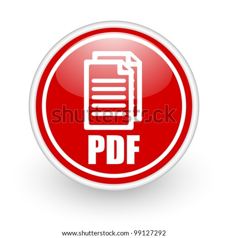 pdf icon - stock photo