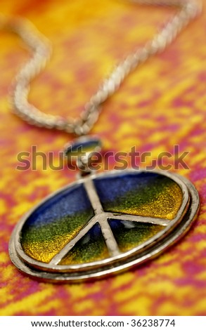 peace necklace - stock photo