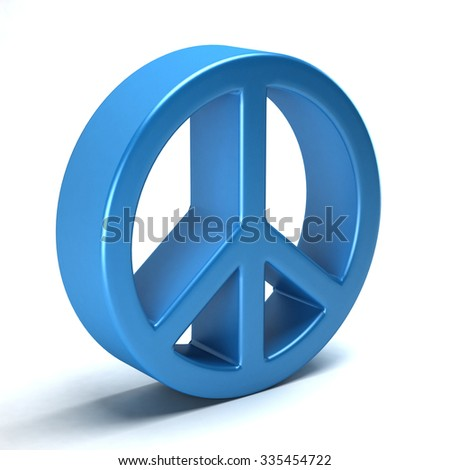 Peace symbol of love, hippie from the 60's - stock photo