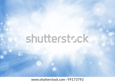 Peaceful background - bright sun, blue sly, white clouds - heaven