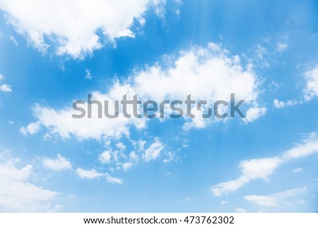 Peaceful blue sky, soft gentle white clouds