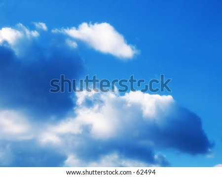 peaceful clouds - stock photo