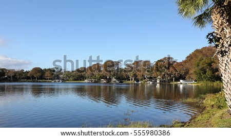 Peaceful Lake Virginia, in Winter Park, Florida, north of Orlando, and near the campus of Rollins College.