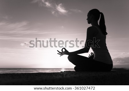 Peaceful meditation. - stock photo