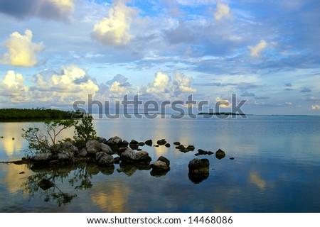 Peaceful morning at Key Largo - stock photo